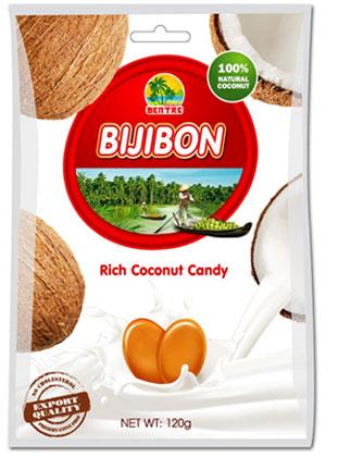 Kẹo dừa Bijibon thơm ngon từ hương vị của thiên nhiên.