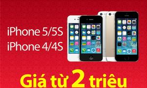 iPhone 4, 4s, 5, 5s giảm giá mạnh chỉ còn từ 2 triệu đồng