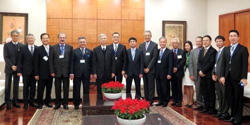 Chủ tịch HĐQT và đoàn công tác diện kiến Phó Thống đốc Ngân hàng Trung Ương Đài Loan