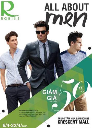 Thế giới thời trang nam tại Robins Royal City, Hà Nội với nhiều thương hiệu, đa dạng phong cách: Cool Metropolis, Pacific Union, Arrow, Excellency&