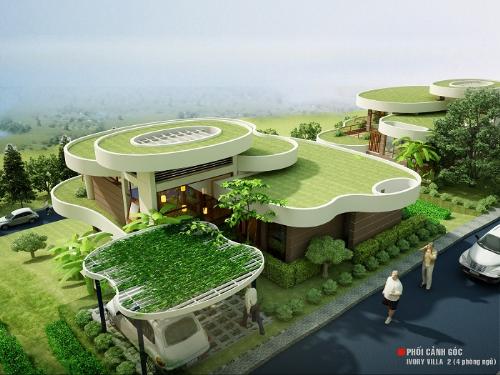 Giai đoạn 1 với 40 căn biệt thự bám hồ được thiết kế ý tưởng bởi kiến trúc sư người Pháp  Phillip Kozely với mái nhà xếp lớp phủ cỏ.Lấy cảm hứng từ thửa ruộng bậc thang của miền núi Tây Bắc lãng mạn kỳ vĩ.