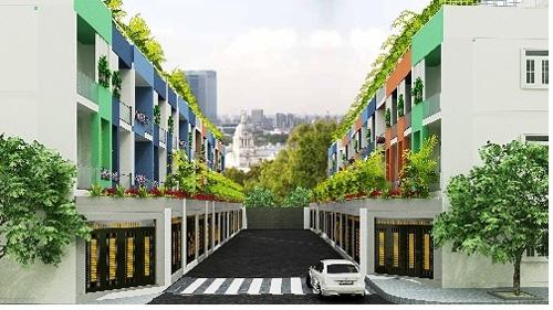 Phối cảnh nhà phố Green Home, Thủ Đức, TP HCM.