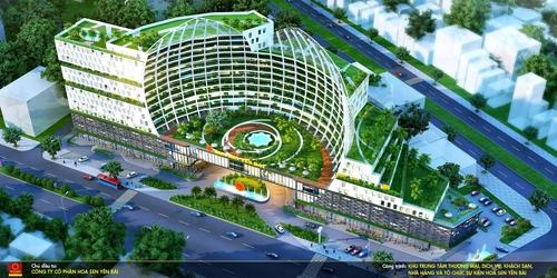 : Dự án khu trung tâm thương mại, khách sạn Hoa Sen Yên Bái có tổng mức đầu tư 1.200 tỷ đồng.