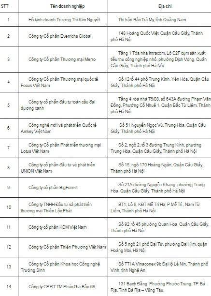 14-doanh-nghiep-bi-phat-hien-ban-hang-da-cap-chui