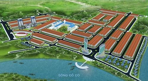 Phối cảnh dự án nhìn từ sông Cổ Cò