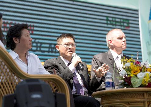 Lim Hwee Melvyn - Giám đốc hội đồng khảo thí quốc tế Cambridge khu vực chia sẻ tại talkshow