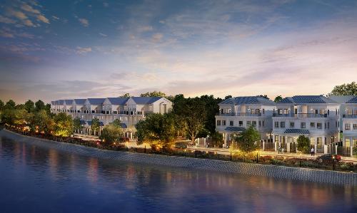 2. Cảnh quan kiến trúc độc đáo, thích hợp cho nhiều đối tượng như doanh nhân, chuyên gia nước ngoài, gia đình trẻ và cả gia đình nhiều thế hệ. Dự án chỉ giới hạn 960 nhà gắn với đất thấp tầng trên diện tích rộng lớn 30ha,  gồm biệt thự song lập, nhà liên kế sân vườn, nhà phố thương mại (shophouse), mật độ xây thấp với 60% diện tích dành cho các công trình công cộng. Xét riêng về mặt cảnh quan kiến trúc, Lakeview City được xem là độc nhất vô nhị trong toàn khu vực nhờ sở hữu hồ cảnh quan 3,6ha ngay giữa trung tâm khu đô thị. Công trình hồ cảnh quan trị giá 200 tỷ đồng được xây dựng không chỉ nhằm mục đích tạo ra một không gian sống trong lành, mát mẻ, tăng hiệu quả cải thiện sức khỏe cho cư dân mà còn là điểm nhấn sinh tài lộc tọa sơn hướng thủy cho nhà đầu tư.