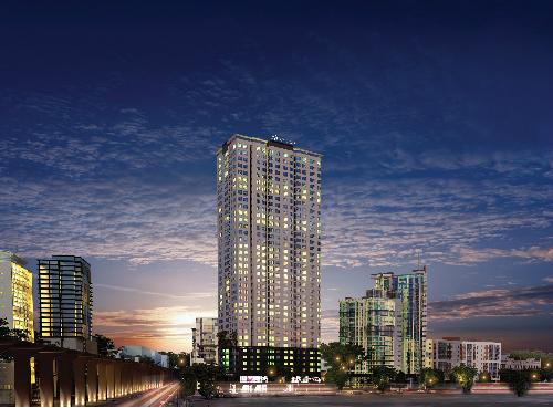 có vị trí đắc địa trung tâm quận Hà Đông: ngã tư giao nối Phố Quang Trung và Lê Trọng Tấn, Thanh Xuân, Hà Đông. Dự án có quy mô 41 tầng với 4 tầng hầm và 37 tầng nổi gồm tổ hợp các căn hộ, khu trung tâm thương mại.