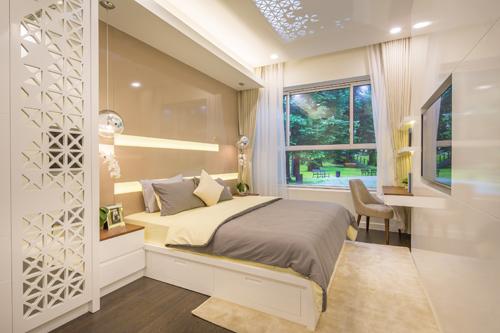 Phòng ngủ sang trọng, hiện đại.