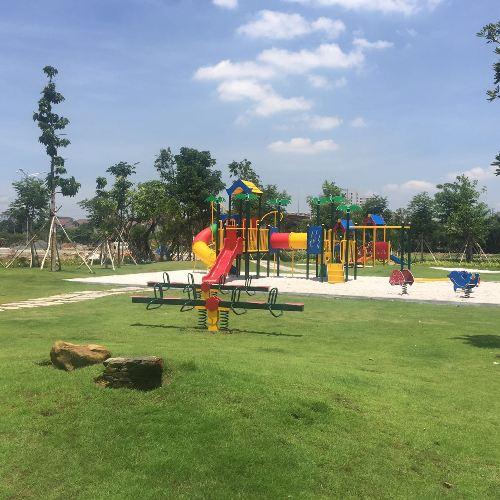Khu vực vui chơi cho trẻ đã hoàn thiện. Văn phòng bán hàng dự án Jamona Golden Silk: 16/9 Bùi Văn Ba, Tân Thuận Đông, quận 7, TP HCM. Hotline: 1800 6888.