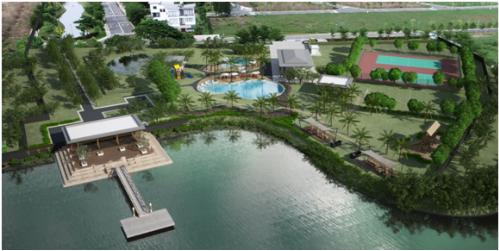 Dự án thiết kế với mật độ xây dựng chỉ chiếm 1/3 tổng diện tích đất, đảm bảo không gian sống thoải mái và thoáng đãng cho cư dân.