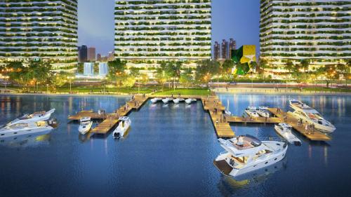 Phối cảnh dự án xanh Diamond Lotus Riverside.