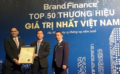 Tập đoàn Bảo Việt (mã chứng khoán: BVH) lọt top 50 thương hiệu giá trị nhất Việt Nam 2016, do công ty định giá thương hiệu hàng đầu thế giới Brand Finance công bố.
