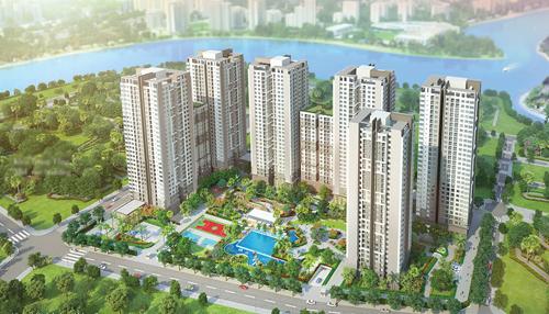 Phối cảnh tổng thể dự án Saigon South Residences.