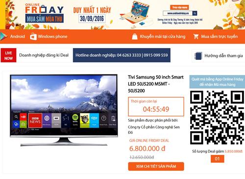 Sản phẩm Tivi Samsung 50 inch được giảm đến 5.850.000đ so với giá thị trường