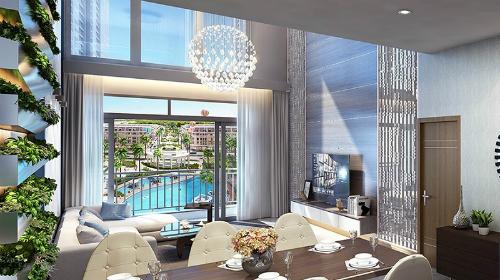 Phối cảnh nội thất căn hộ thông tầng duplex
