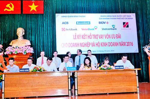 Lễ ký kết diễn ra dưới sự chủ trì của Ngân hàng Nhà nước  Chi nhánh TP.HCM, Sở Công Thương TP.HCM, Ủy ban Nhân dân Bình Thạnh.