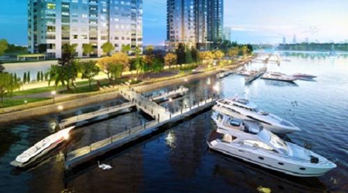 Taxi nước và Bến du thuyền duy nhất được cấp phép chỉ phục vụ riêng cho cư dân