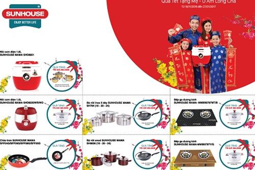 Các sản phẩm khuyến mãi tặng kèm. Chi tiết sản phẩm khuyến mãi xem tại đây (link: http://quatettangme.sunhouse.com.vn/?utm_source=Ureka%20Ads&utm_medium=PR&utm_content=Vnxpress)