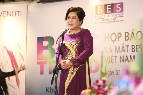 Bà Trần Thanh Hà, Chủ tịch Hội đồng quản trị kiêm Tổng giám đốc BES Việt Nam.