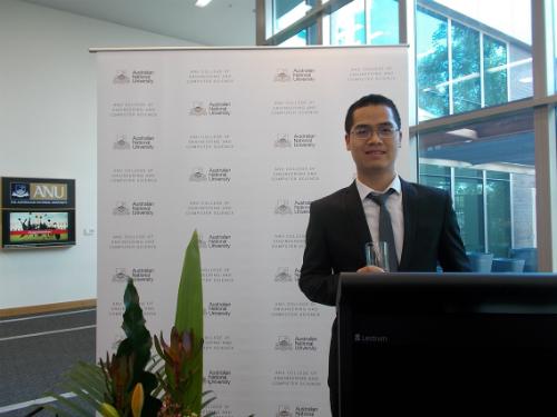 anh Nguyễn Văn Trung (sinh năm 1987, Tiến sĩ ngành Khoa học Máy tính, trường Đại học Quốc gia Australia