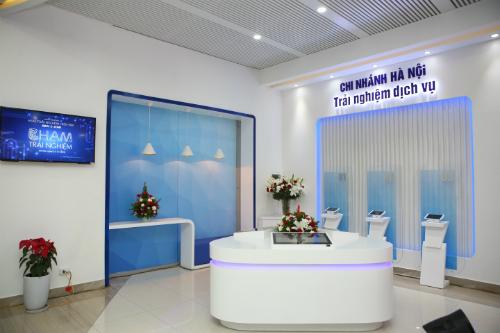 khu trải nghiệm ngân hàng hiện đại E-Zone.
