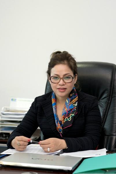 Bà Nguyễn Thị Dung  Chủ tịch HĐQT Tổ hợp Công nghiệp Xây dựng Nam Hải