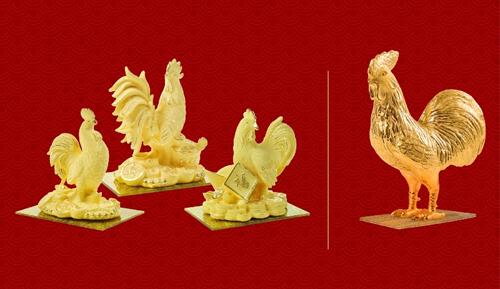 Ngoài các sản phẩm có khả năng tích trữ (như đồng vàng 999.9 Kim Dậu 1-2-5 chỉ, sản phẩm Kim Ngân Tài 1-2 chỉ, Nhẫn tròn trơn Phúc-Lộc-Phát-Tài&) có thể đổi linh hoạt sang SJC, các dòng sản phẩm mỹ nghệ còn đáp ứng tốt về nhu cầu thẩm mỹ hay quan niệm phong thủy để có thể dùng làm quà biếu tặng hay vật trưng bày đẹp mắt trên bàn làm việc, trong nhà& Hotline: 1800 1168 Website:  http://trangsuc.doji.vn/microsite/ngay-than-tai-2017/
