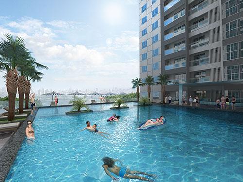 Hồ bơi là không gian thư giãn lý tưởng cho cư dân Hưng Phát Sliver Star.