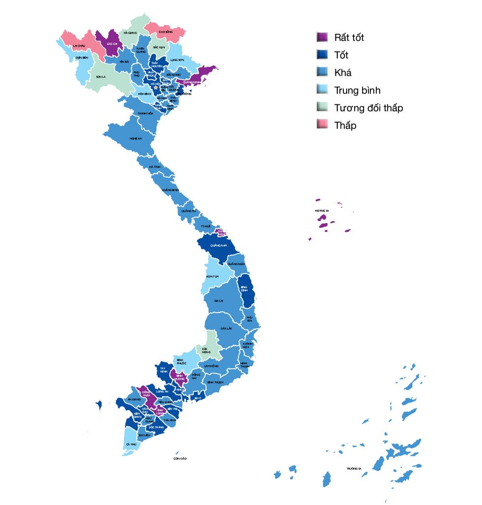 Bản đồ năng lực cạnh tranh cấp tỉnh 2016
