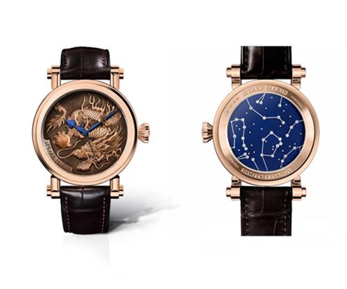 Tác phẩm Speake-Marin Born To Dragon là đơn đặt hàng của một nhà tài phiệt Nga sinh năm Giáp Thìn. Mặt số của chiếc đồng hồ điêu khắc thủ công tinh xảo hình rồng cuộn mình nắm giữ một viên ngọc. Mặt sau của chiếc đồng hồ là bầu trời đêm bằng sapphire xanh với chòm sao thể hiện cung hoàng đạo của chủ nhân chiếc đồng hồ, chòm sao này chế tác từ vàng trắng và kim cương. Đồng hồ có giá bán 130.000 USD (gần 2,9 tỷ đồng).