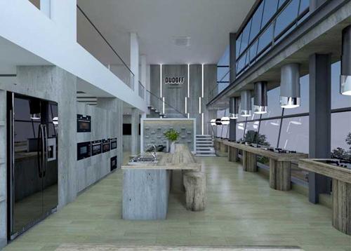 Nhiều thiết bị nhà bếp hàng đầu được giới thiệu tại showroom củaDudoff Việt Nam.