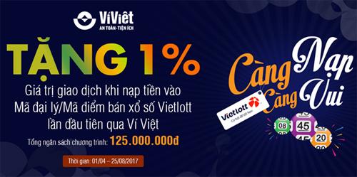 Thông tin chi tiết về chương trình vui lòng xem tại https://www.viviet.vn/  Tải Ví Việt, truy cập https://goo.gl/ve8Kcg (Android), https://goo.gl/Oi2pmq (IOS)  Tổng đài CSKH: 1800 6665