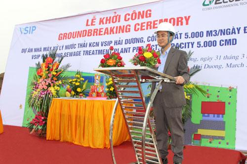 Ông Vũ Đức Chung - Giám đốc Ecoba công nghệ môi trường.