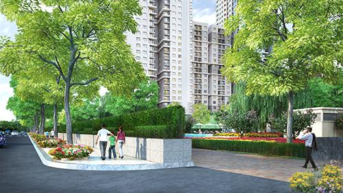 Thiết kế tường rào cây xanh vừa đảm bảo được hệ thống an ninh khép kín mà vẫn giữ được mỹ quan của dự án.