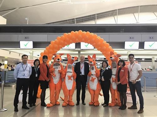 CEO của Jetstar Airway tham dự lễ khai trương đường bay mới.