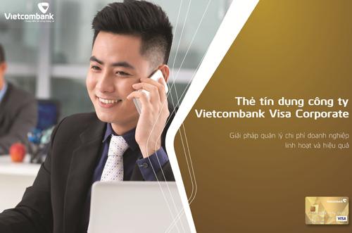 Thẻ tín dụng quốc tế Vietcombank Visa Corporate ra mắt từ ngày 19/5