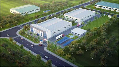 Hình ảnh thiết kế Nhà máy Chế biến thực phẩm Huy Việt Nam tại Long An