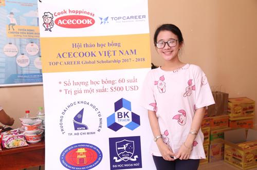 Bạn Trần Thị Thương Thương - sinh viên năm 2 khoa Thông tin học, Đại học Khoa học Xã hội và Nhân văn Tp.Hồ Chí Minh.