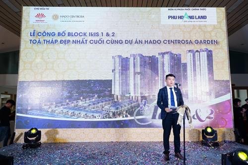 Ông Nguyễn Tấn Hoàng - Giám đốc công ty Phú Hoàng Land phát biểu trong ngày công bố.