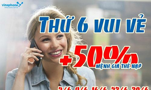 Ưu đãi thuê bao trả trước VinaPhone nạp tiền trực tuyến