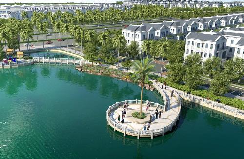 Hồ điều hòa 12,4ha - ngọc xanh giữa lòng khu đô thị Vinhomes Riverside