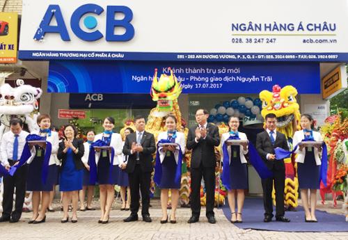 TP.HCM, ngày 17.07.2017, Ngân hàng Á Châu (ACB) đã tổ chức khánh thành trụ sở mới ACB PGD Nguyễn Trãi tại địa chỉ số 281 283 An Dương Vương, Phường 03, Quận 05, TP.HCM; SĐT: (028) 39240898, Fax: (028) 39240897