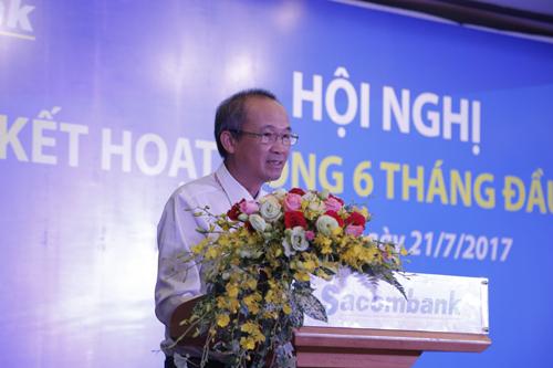 Ô. Dương Công Minh  Chủ tịch HĐQT Sacombank chia sẻ tại Hội nghị.