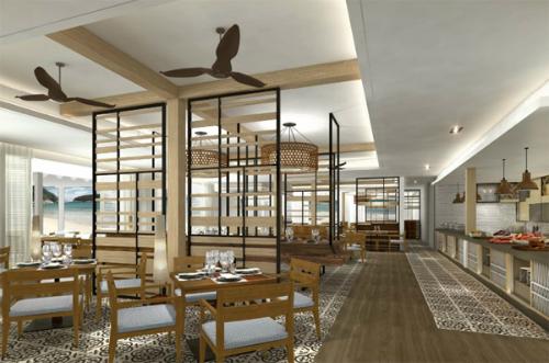 Nhà hàng mặt tiền biển Breeza  điểm độc đáo của dự án Melia Hồ Tràm.