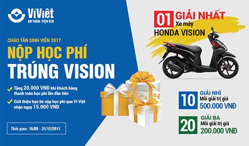 Chi tiết chương trình xem tại đây. Tải Ví Việt, truy cập https://www.viviet.vn/install-app Tổng đài CSKH (Miễn phí 24/7): 1800 6665.