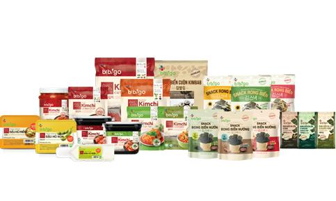 Các sản phẩm đa dạng của bibigo đã có mặt tại Việt Nam