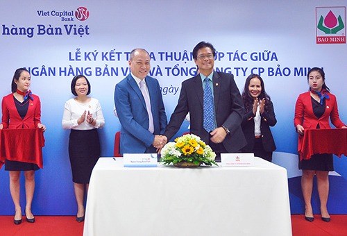 Ngân hàng Bản Việt và Tổng Công ty Cổ phần Bảo Minh đã ký kết thỏa thuận hợp tác toàn diện trên lĩnh vực bảo hiểm phi nhân thọ.