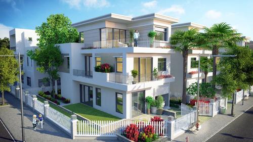 Thiết kế ngập tràn sắc xanh tại Thăng Long Home Hưng Phú.