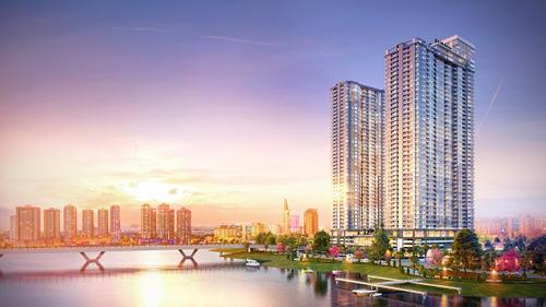 Từ các căn hộ Sunwah Pearl, cư dân có thể  chiêm ngưỡng toàn cảnh thành phố sôi động.